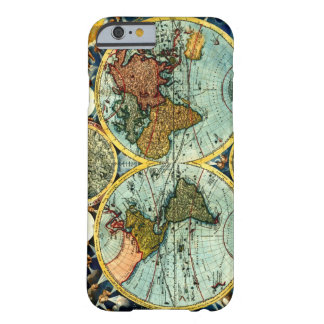 Antique World Map Vintage Globe Art iPhone 6 case