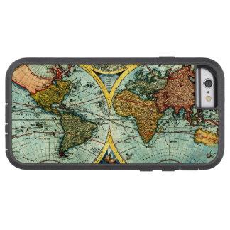 Antique World Map Vintage Globe Art iPhone 6 case