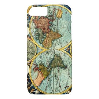 Antique World Map Vintage Globe Art iPhone 7 case