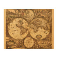 Antique maps art posters framed artwork zazzle wrapped canvas prints antique world map gumiabroncs Gallery