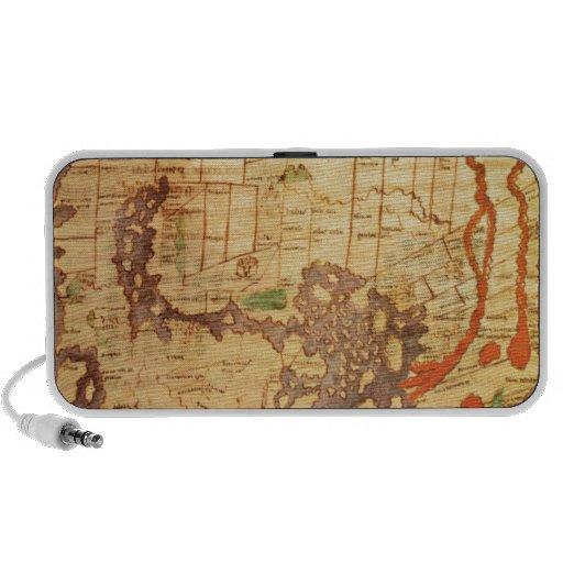 Antique world maps travel speakers
