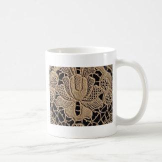 Antique Zele Lace Basic White Mug