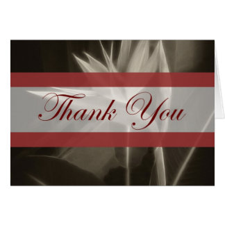 Antiqued Bird of Paradise 10 Thank You Cards