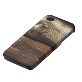 Antiqued Brown and TanWood Grain iPhone 4/4S Cases