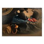 Antiqued fire gear greeting cards