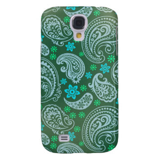 Antiqued Green Paisley Samsung Galaxy S4 Cases