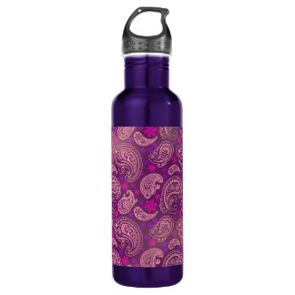 Antiqued Pink & Purple Paisley 710 Ml Water Bottle