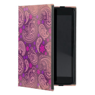 Antiqued Pink & Purple Paisley Cover For iPad Mini