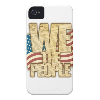 Antiqued WE THE PEOPLE iPhone 4 Covers
