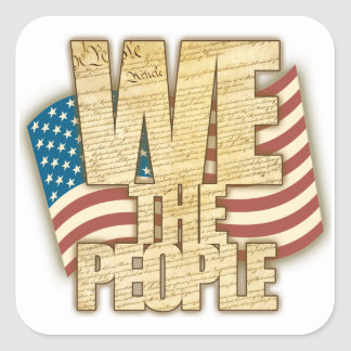 Antiqued WE THE PEOPLE Stickers