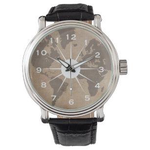 World map wrist watches zazzle uk antiqued world map watch gumiabroncs Gallery