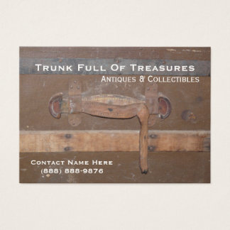 Antiques and Collectibles Old Wooden Trunk Business Card
