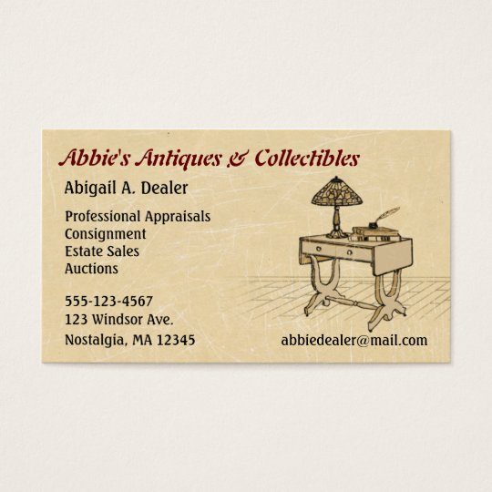 Antiques Auctions Estate Sales Business Card