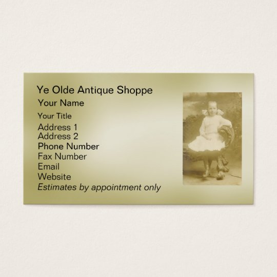 Antiques - business card template