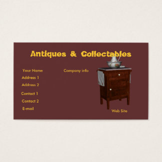 Antiques & collectables business card