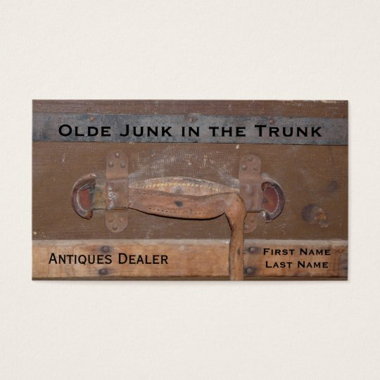 Antiques Dealer Vintage Trunk of Treasures Business Card