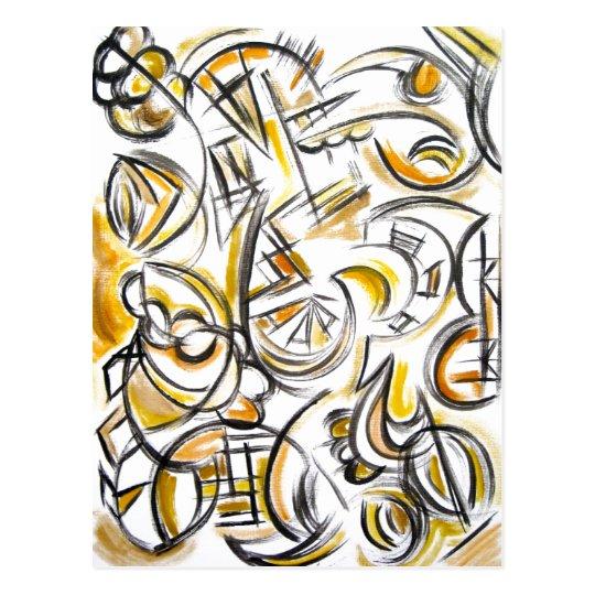 Antiquing - Abstract Art Postcard