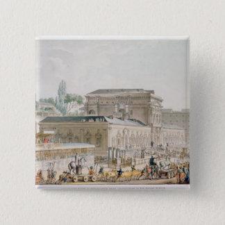 Antiquities found at Herculaneum 15 Cm Square Badge