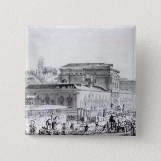Antiquities found at Herculaneum being 15 Cm Square Badge