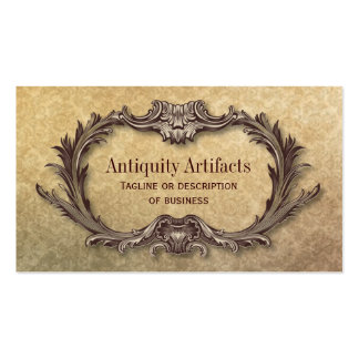 Antiquity Parchment Damask Pack Of Standard Business Cards
