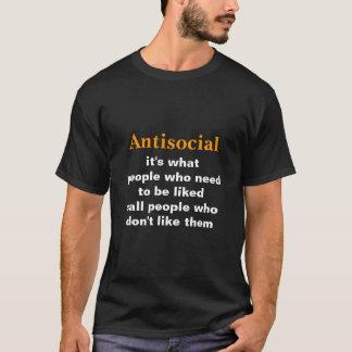 Antisocial -- Funny Definition (Dark version) T-Shirt