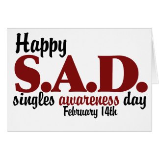 antivalentine S.A.D. Note Card