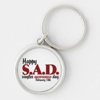 antivalentine S.A.D. Silver-Colored Round Key Ring