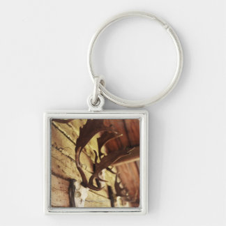 Antler Collection Silver-Colored Square Key Ring