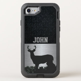Antlered Deer in Grass Custom Name Case