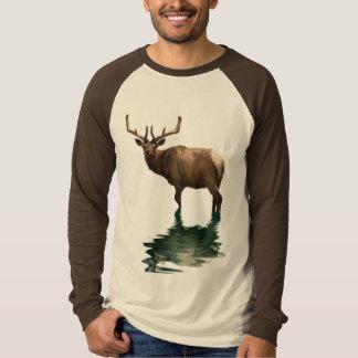 Antlered Wapiti Elk Wildlife Supporter Art Shirts