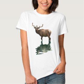 Antlered Wapiti Elk Wildlife Supporter Art T Shirt
