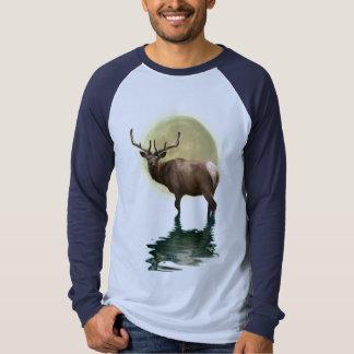 Antlered Wapiti Elk Wildlife Supporter Art T-shirts