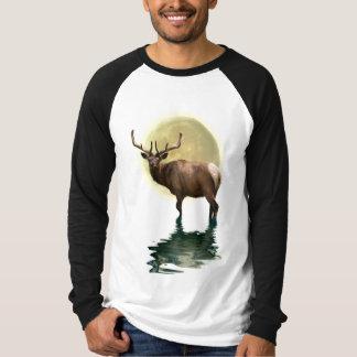 Antlered Wapiti Elk Wildlife Supporter Art Tees