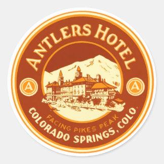 AntlerHotel Round Sticker