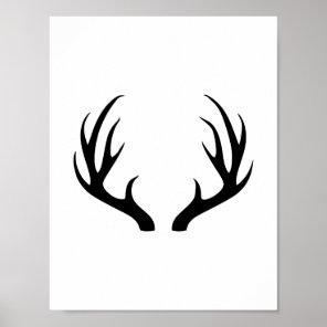 Antlers - Deer Antlers Poster