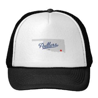 Antlers Oklahoma OK Shirt Mesh Hats