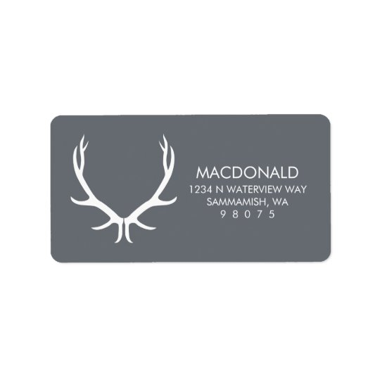 Antlers Return Address Label