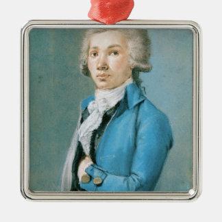 Antoine Barnave Silver-Colored Square Decoration