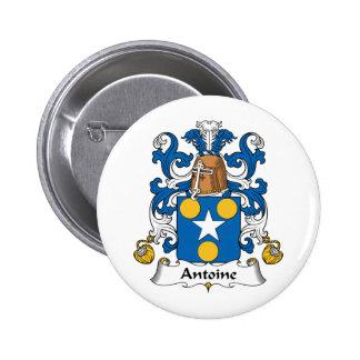 Antoine Family Crest 6 Cm Round Badge