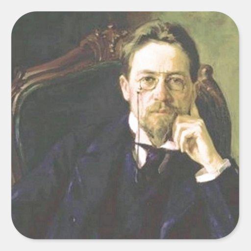 Anton Chekhov 1898 Square Sticker
