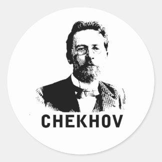 Anton Chekhov Round Sticker
