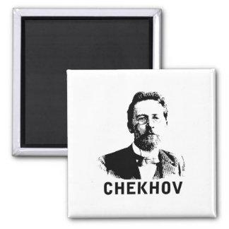 Anton Chekhov Square Magnet
