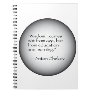 Anton Chekov Quote Notebook