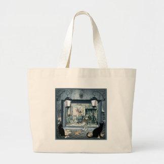 ANTON PIEK dark blue gad design Jumbo Tote Bag