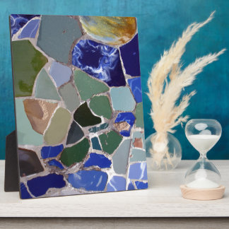 Antoni Gaudi Blue Mosaics Display Plaque