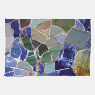 Antoni Gaudi Blue Mosaics Tea Towel