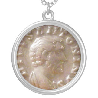 Antoninus Pius Silver Plated Necklace