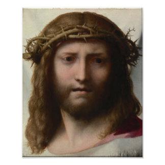 Antonio da Correggio - Head of Christ Art Photo