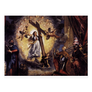 Antonio Grimani Kneeling Before the Faith Titian Postcard