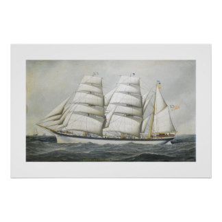 Antonio Jacobsen The British barque Dunearn Poster